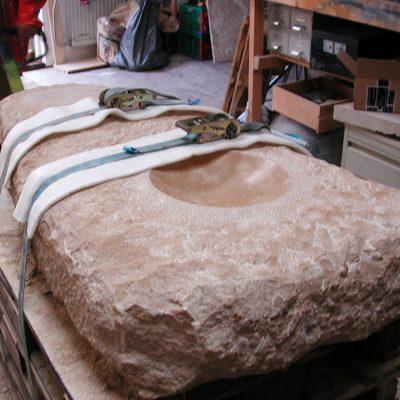 plaatsing grafsteen